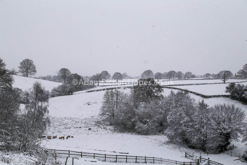 Snowy Worcestershire in 2018